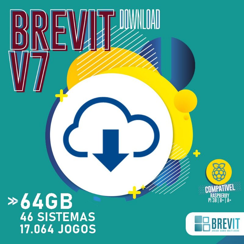 Sistema Brevit V7 64GB - Raspberry Pi 3 B e B+ - DOWNLOAD