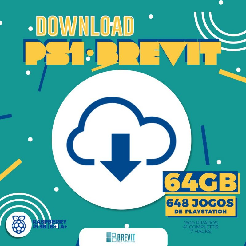 Sistema Brevit PS1 64GB - Raspberry Pi 3 B e B+ - DOWNLOAD