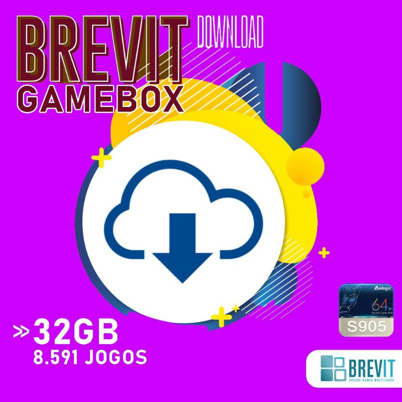 Sistema Brevit GameBox 32GB - TV Box S905W e X - DOWNLOAD