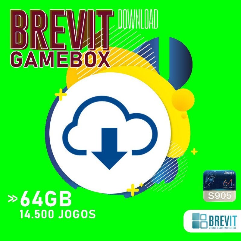 Sistema Brevit GameBox 64GB - TV Box S905W e X - DOWNLOAD
