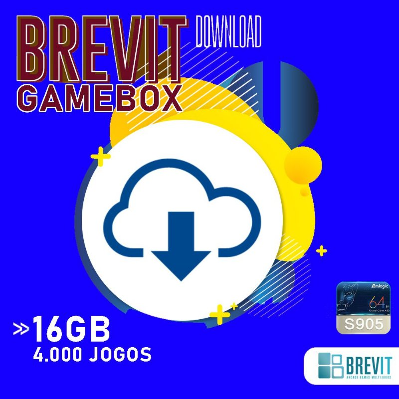 Sistema Brevit GameBox 16GB - TV Box S905W e X - DOWNLOAD