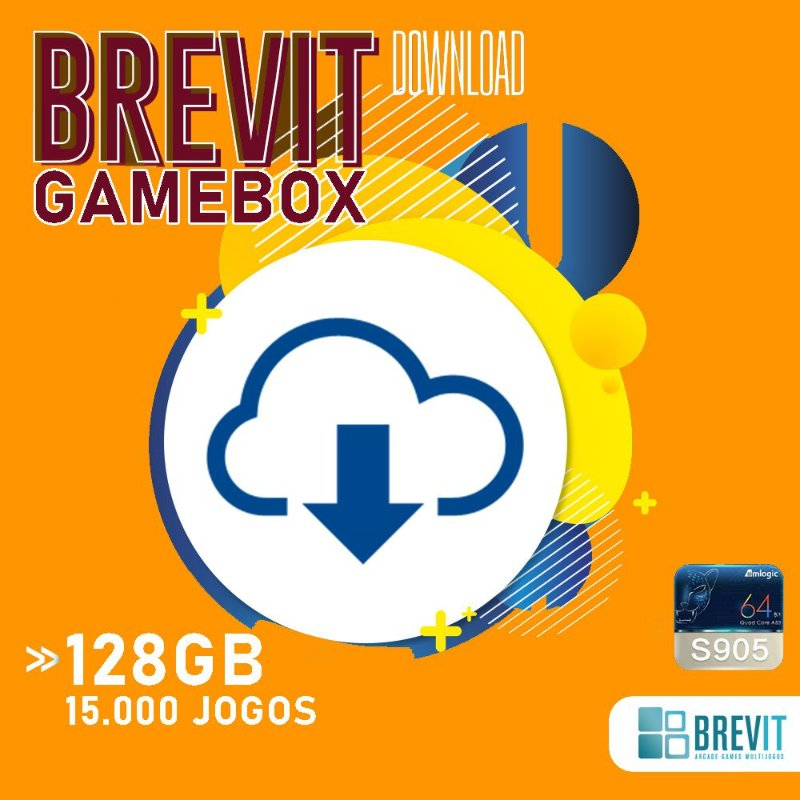 Sistema Brevit GameBox 128GB - TV Box S905W e X - DOWNLOAD