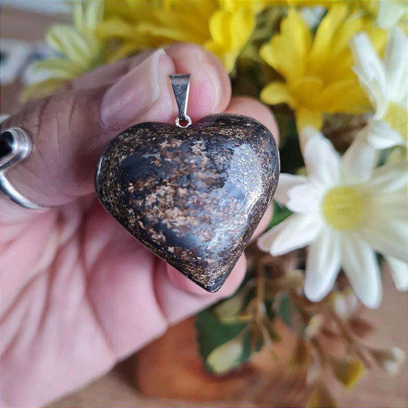 Pingente Coração Bronzita
