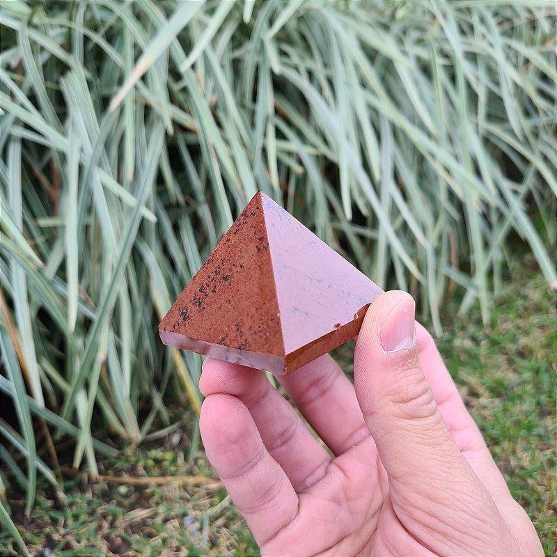 Pirâmide Obsidiana Mohogany 5cm x 5cm