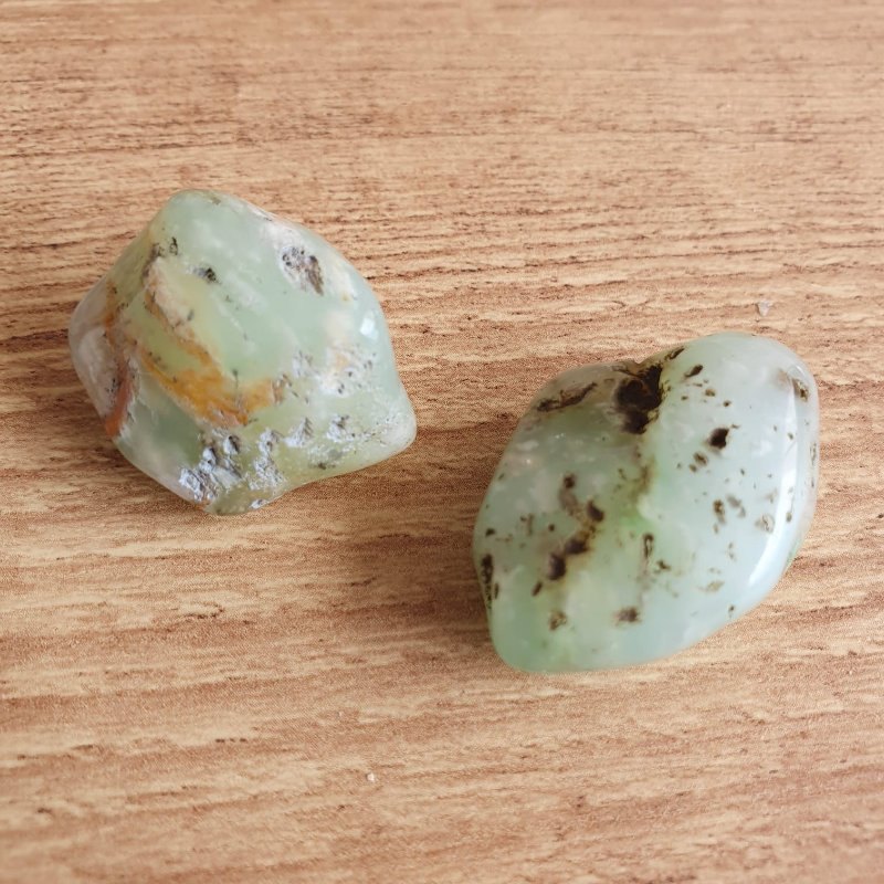 Crisopásio pedra rolada 3cm em média | PERDÃO E CURA EMOCIONAL
