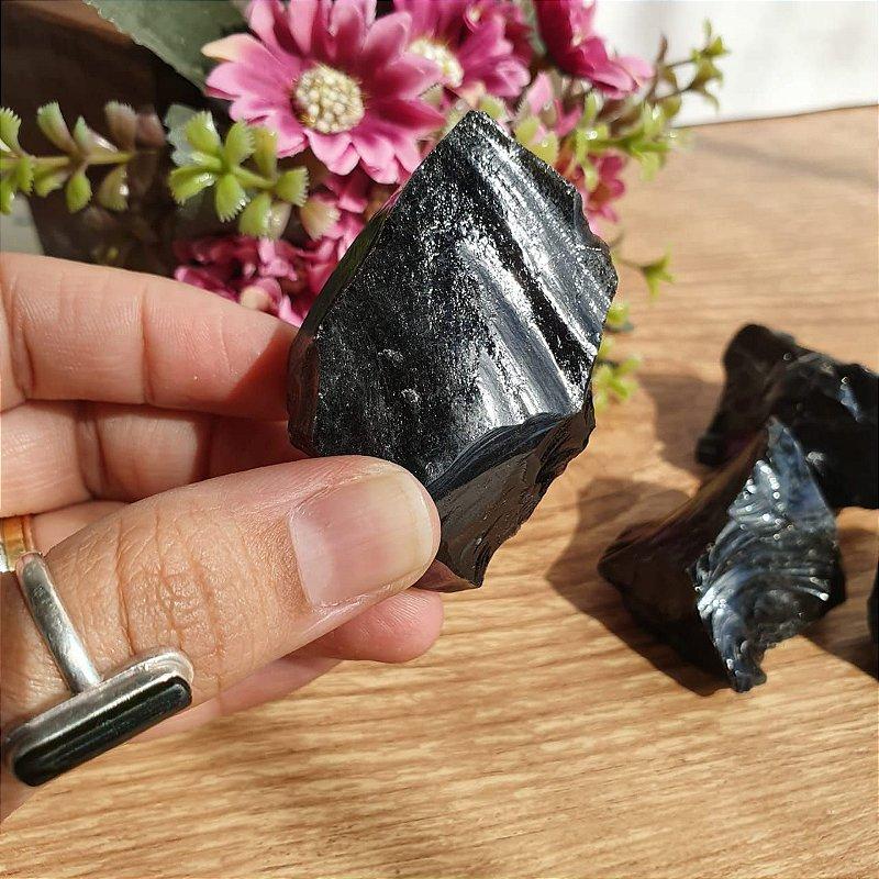 Obsidiana Pedra bruta 50gr | PROTEÇÃO E VERDADE