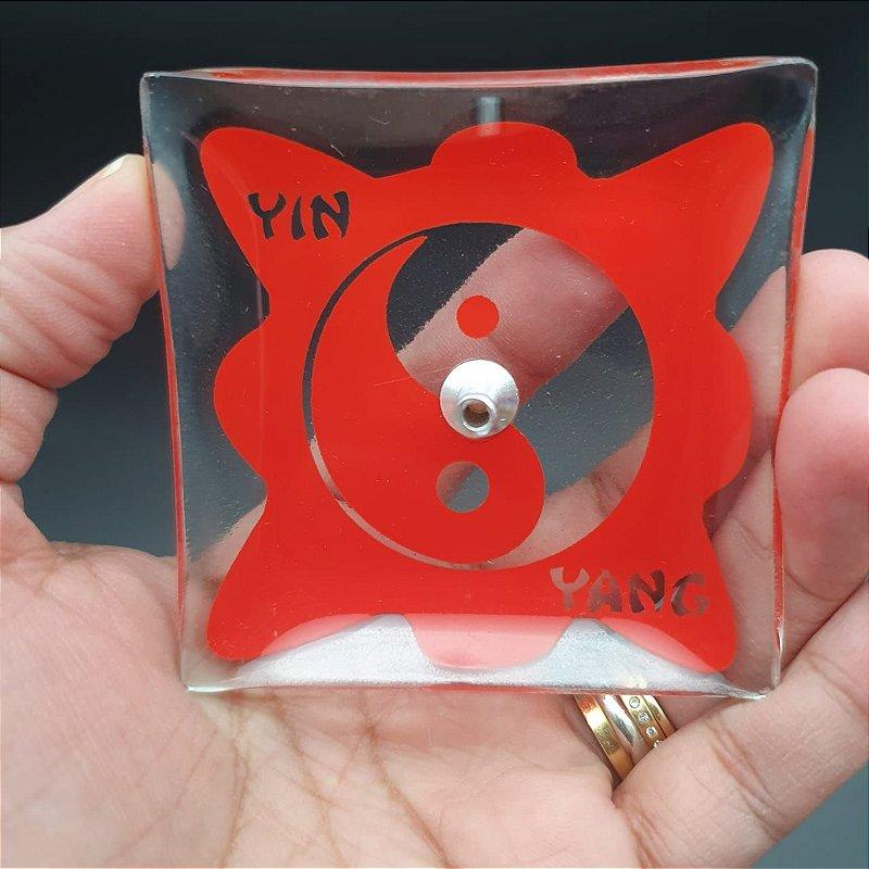 Incensário de Vidro YIN-YANG Vermelho