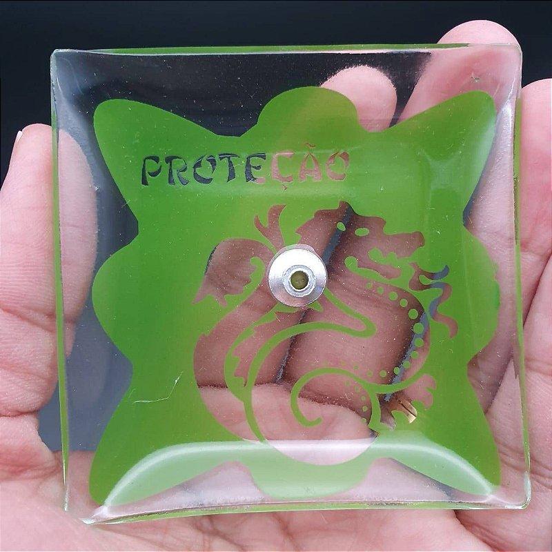 Incensário de Vidro PROTEÇÃO Verde