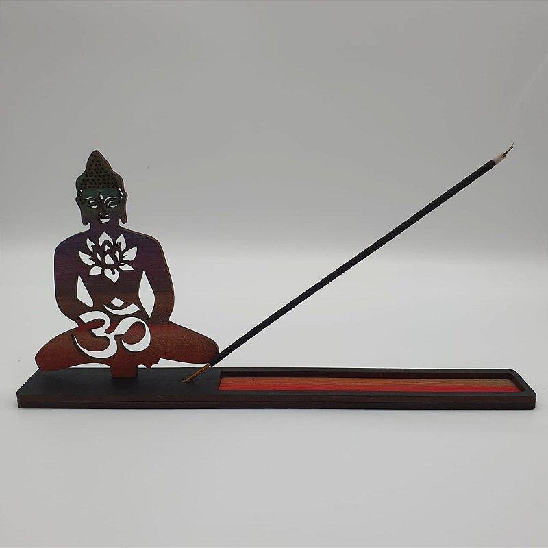 Incensário Buda Madeira 22 cm