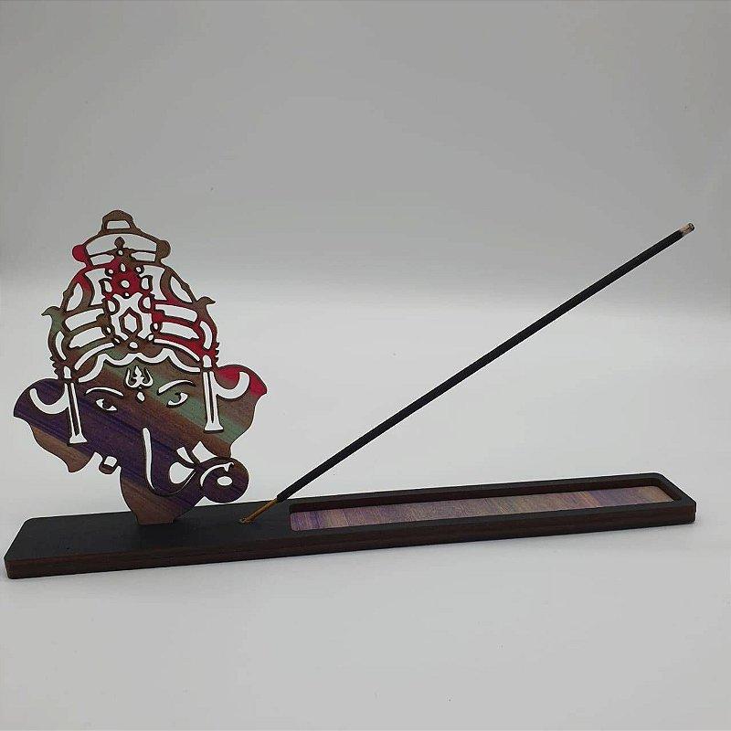 Incensário Ganesha Madeira 22 Cm