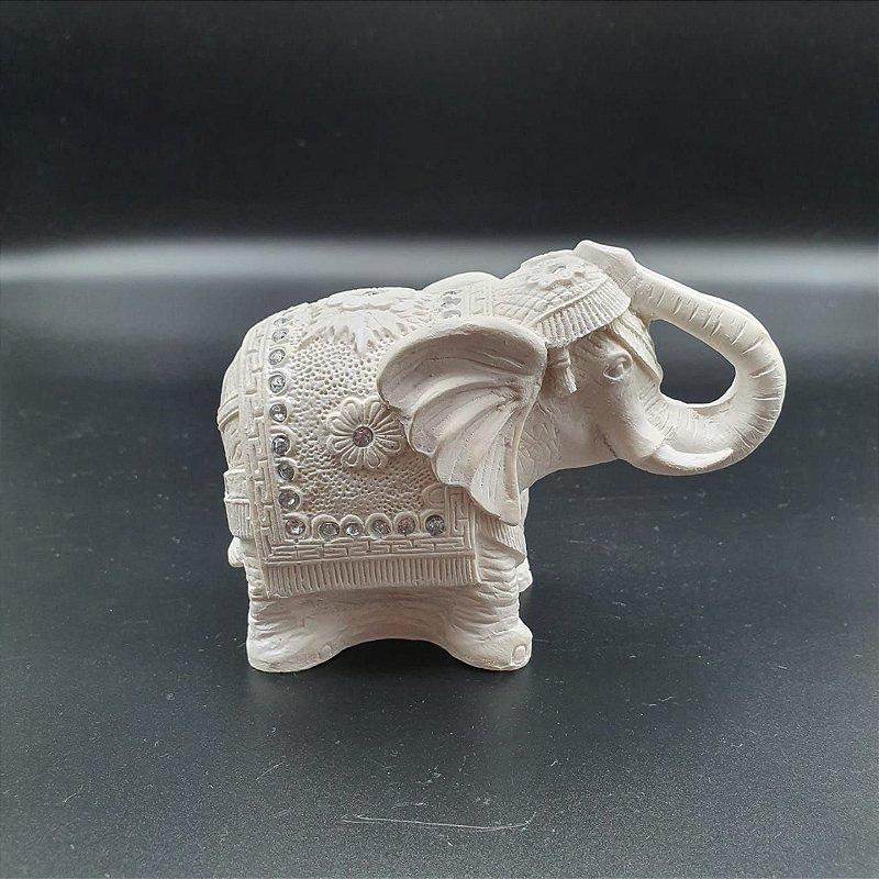 Elefante Branco com a Tromba para Cima 9cm