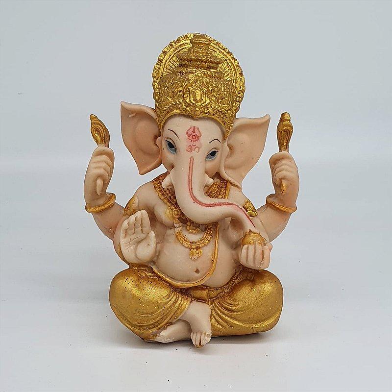 Ganesha Dourado 14 cm