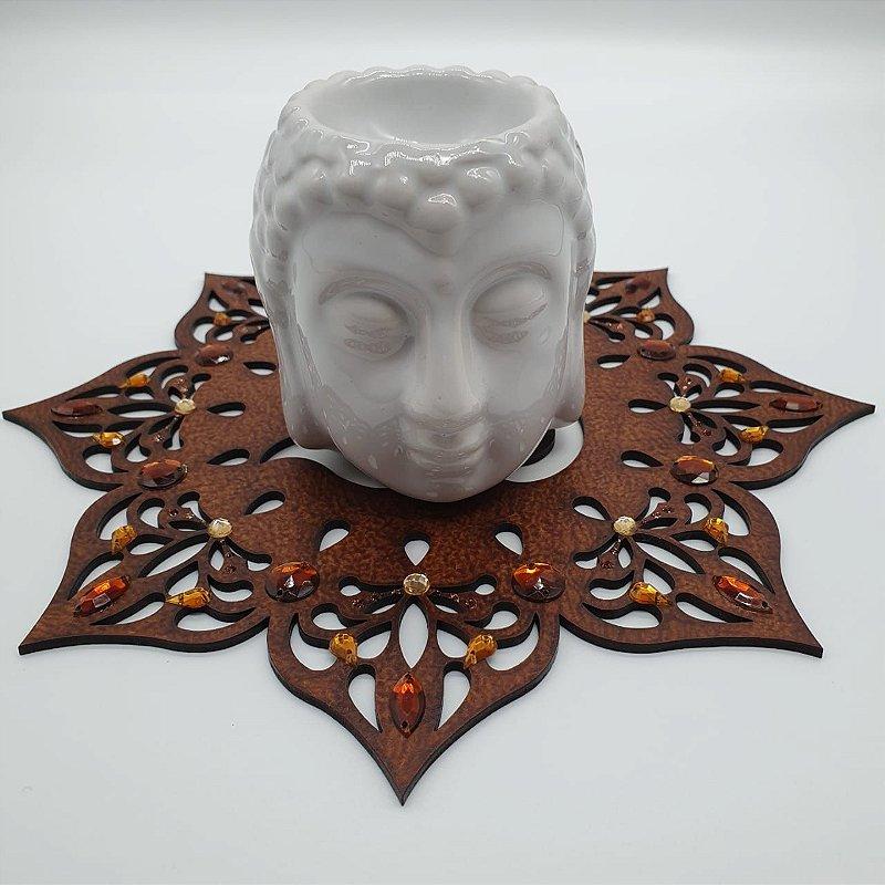 Aromatizante Porcelana Cabeça de Buda - Branco