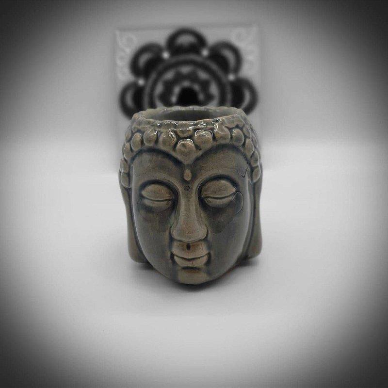 Aromatizante Porcelana Cabeça de Buda - Verde