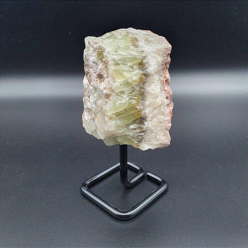 Drusa Calcita Verde na Base de Ferro 13CM