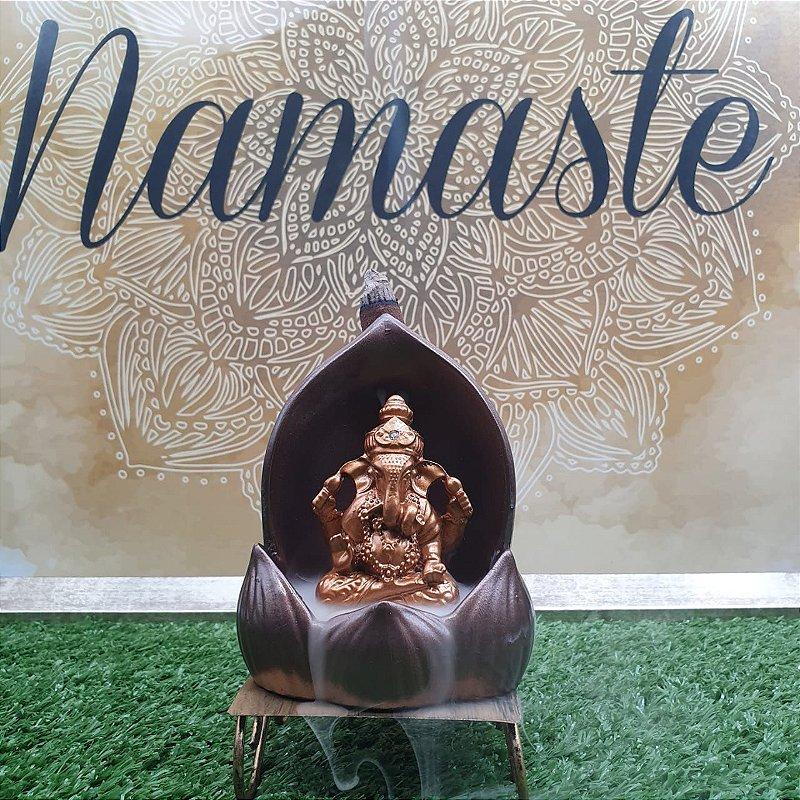 Incensário Cascata Ganesha  12CM