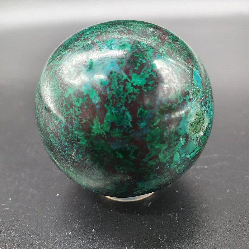 Esfera de Crizocola - 145 Gramas 5cm x 5cm
