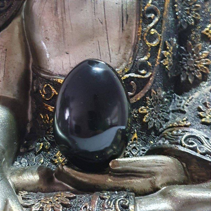 Ovo de Obsidiana - 81 Gramas 5cm x 3cm
