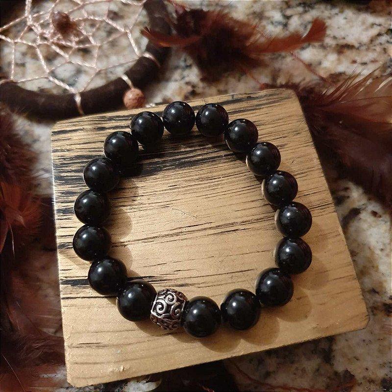 Pulseira Obsidiana 10mm