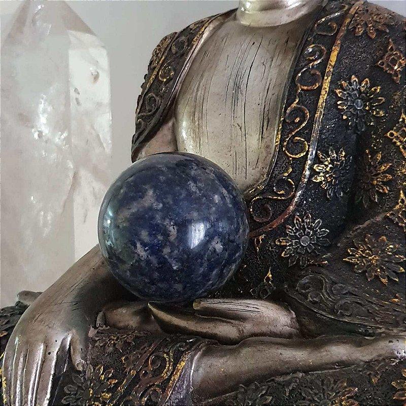 Esfera de Quartzo Azul - 241 gramas 5cm x 5cm