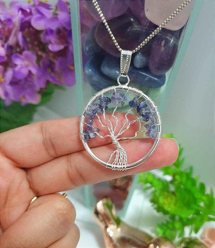 Pingente Árvore da vida em Safira - 7 Gramas 3.5cm x 3.5cm