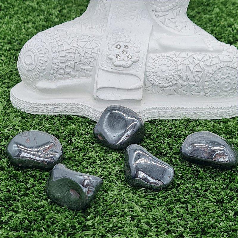 Pedra Hematita Rolada (unidade) | 3m x 1cm aprox.