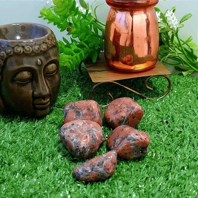 Pedra Calcita Laranja Rolada (unidade) | 3cm x 1cm