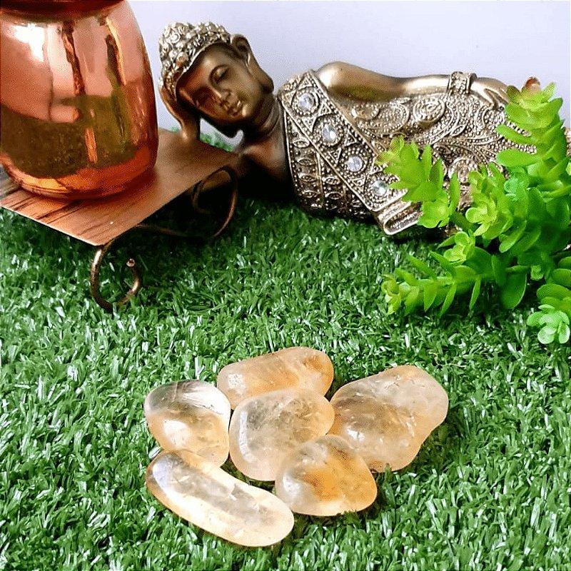 Pedra Citrino Rolado (unidade) | 3cm x 1cm