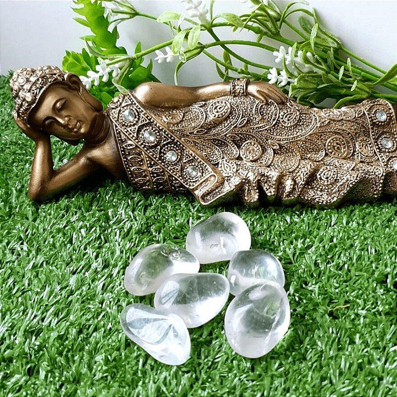 Pedra Quartzo Cristal Rolado (unidade) | 3cm x 1cm