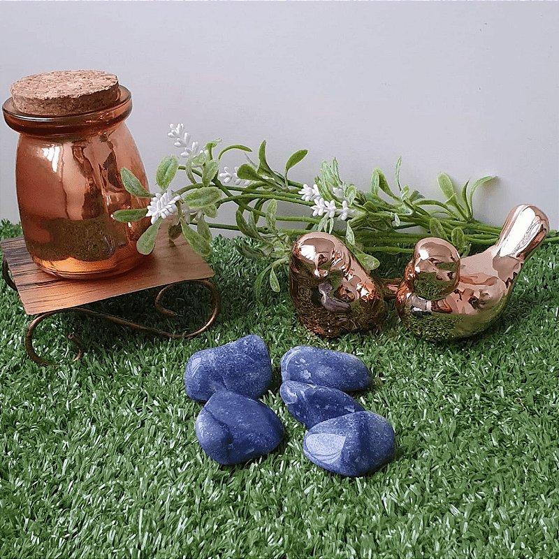 Quartzo Azul Rolado (unidade) | 3cm x 1cm