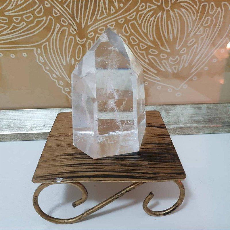 Ponta Cristal Extra Transparente Lapidado - 55 Gramas 2.5cm x 5.5cm
