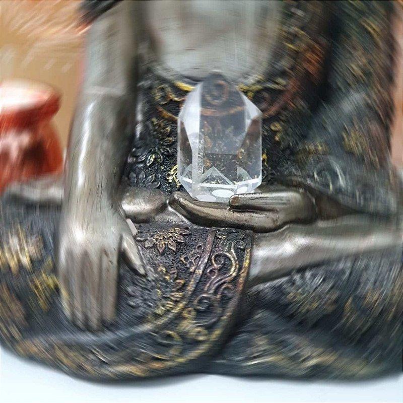 Ponta Cristal Fantasma Lapidado - 212 Gramas 5.5cm x 7cm