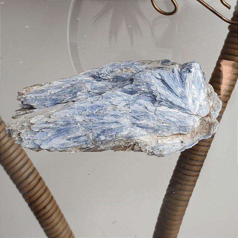 Drusa de Cianita Azul - 495 Gramas 13cm x 3cm