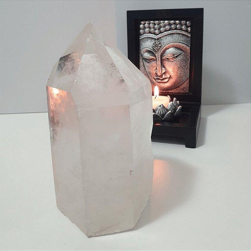Ponta Cristal Fantasma Bruta - 1 Kilo 200 Gramas 7cm x 15cm