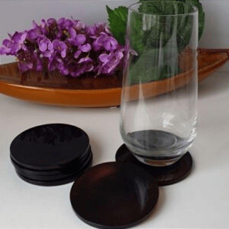 Porta Copos de Ágata Marrom - 6 peças 8cm x 0.5cm