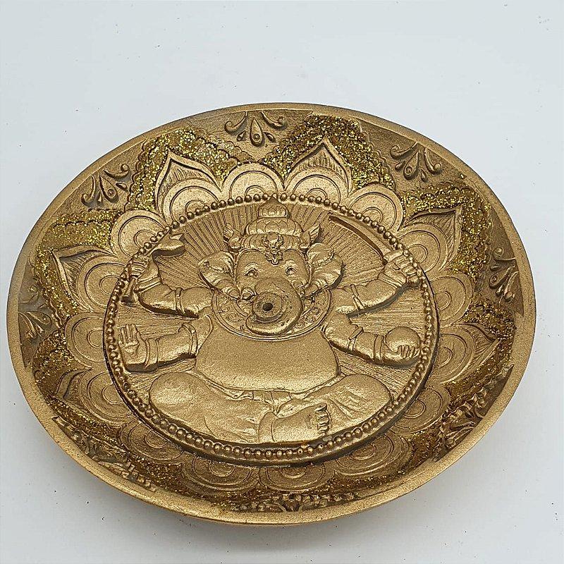 Incensário Prato Ganesha 12 cm