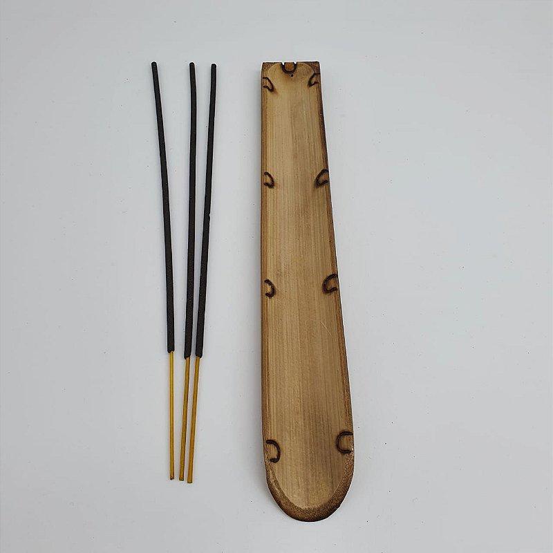 Incensário Canaleta em bambu 23 cm