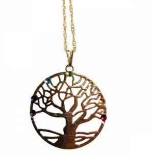 Gargantilha Árvore da Vida 7 Chakras - 3cm