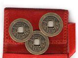 Moedas Feng Shui I Ching 3 moedas ( 3 Moedas Feng Shui - Sorte e Prosperidade)