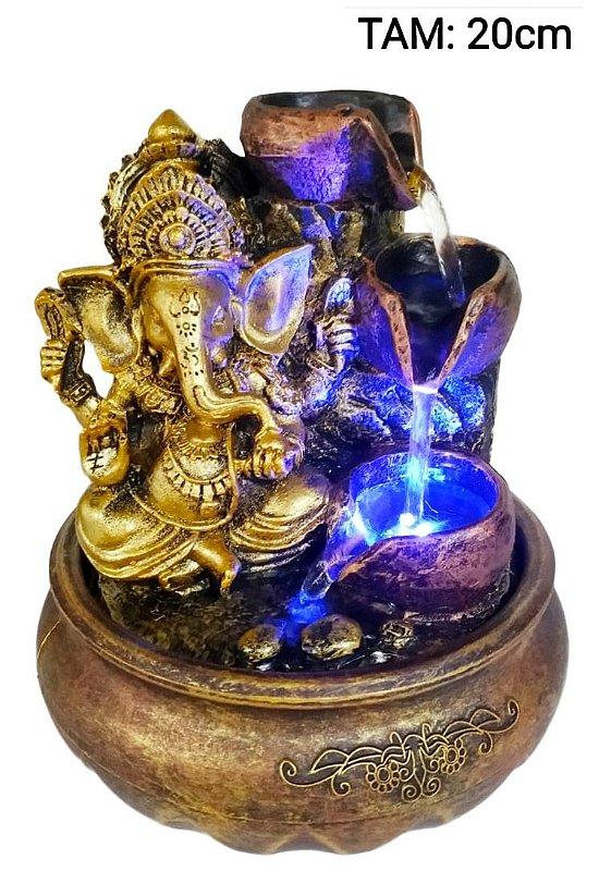 Fonte Ganesha 3 Quedas de água com luzes em LED 20CM