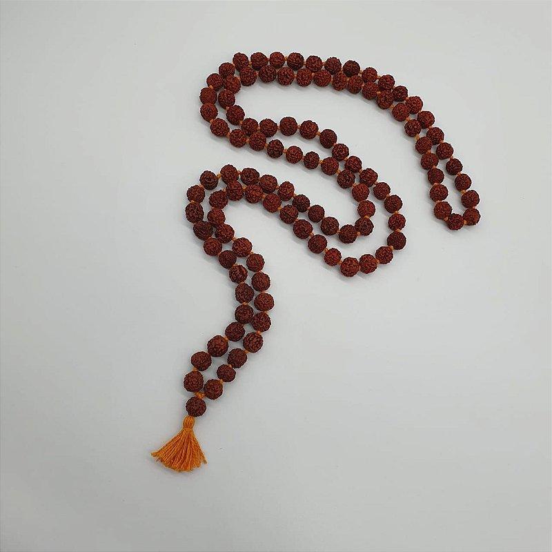 Japamala em semente de Rudraska 10mm 108 contas
