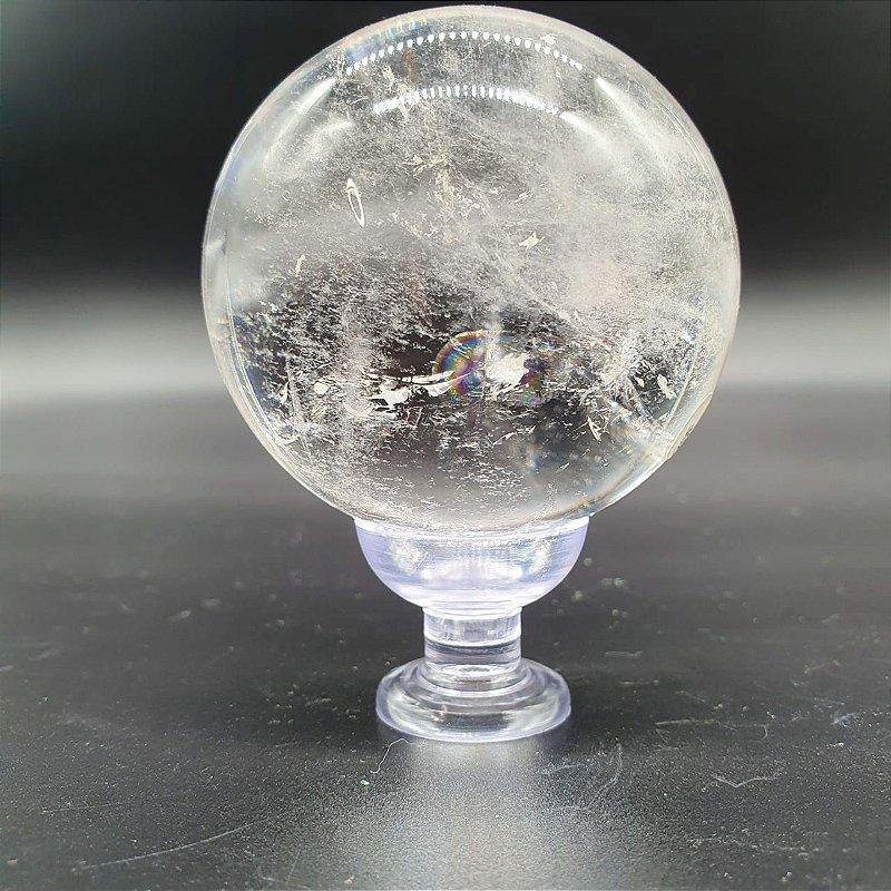 Esfera de Quartzo Transparente | A7cm x L7cm | P348g