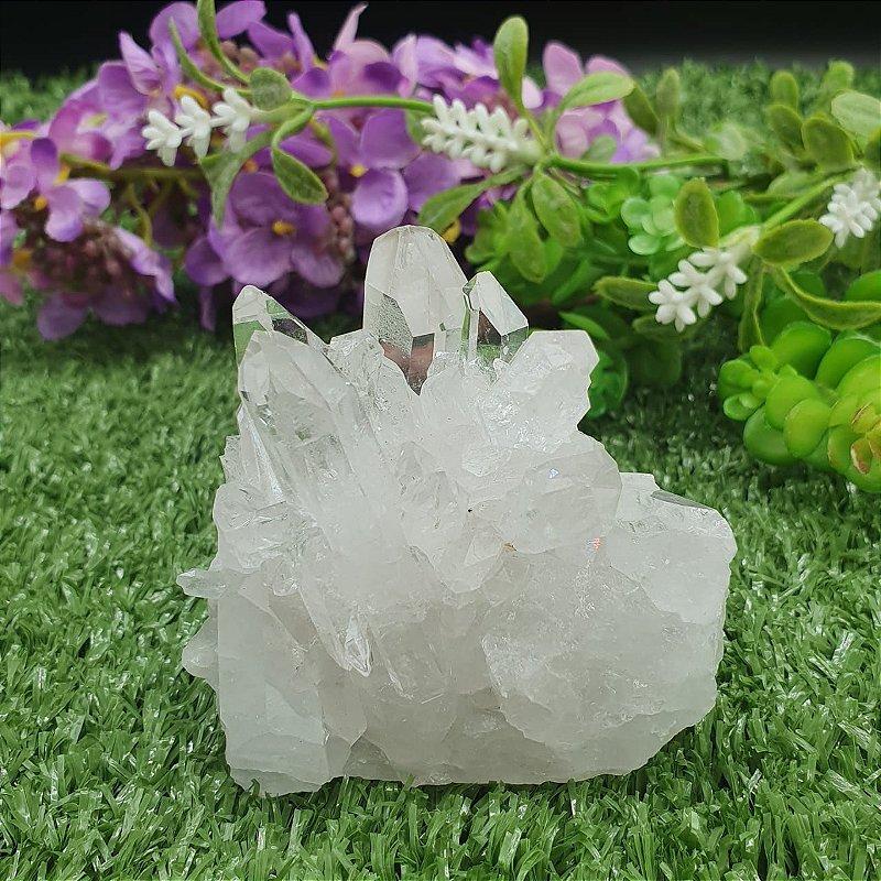 Drusa de Cristal - Qualidade Extra Especial | A6cm x L5cm x P6cm | P 204g