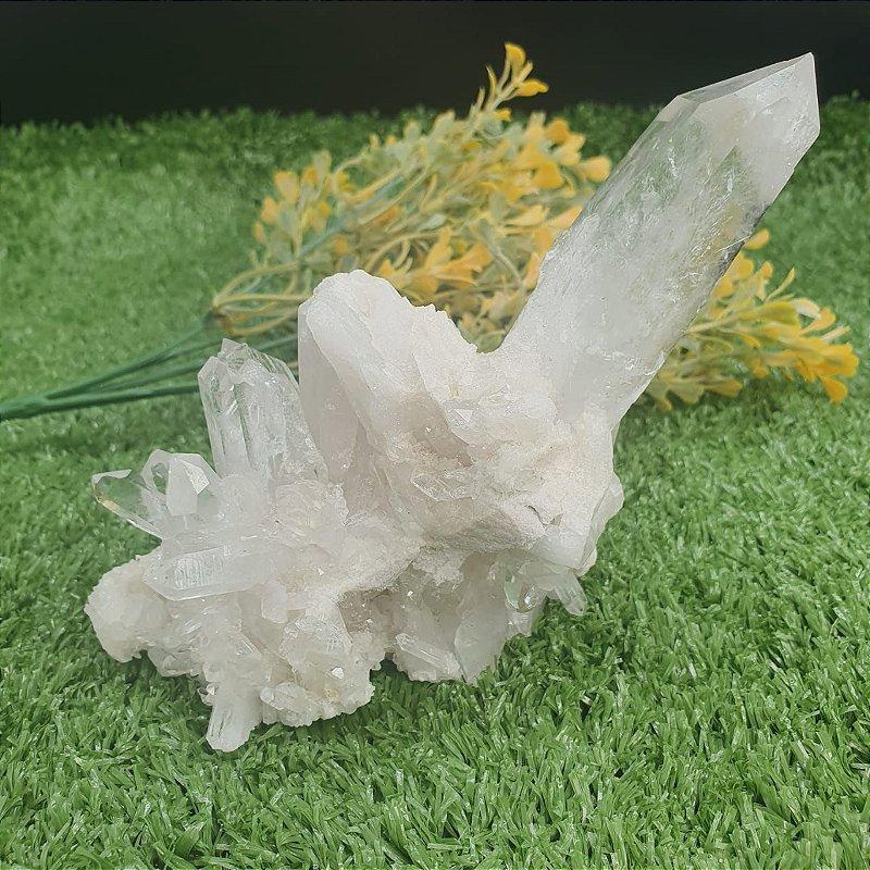 Drusa de Ponta de Cristal Gerador | A12cm x L10cm x P11cm | P 690g