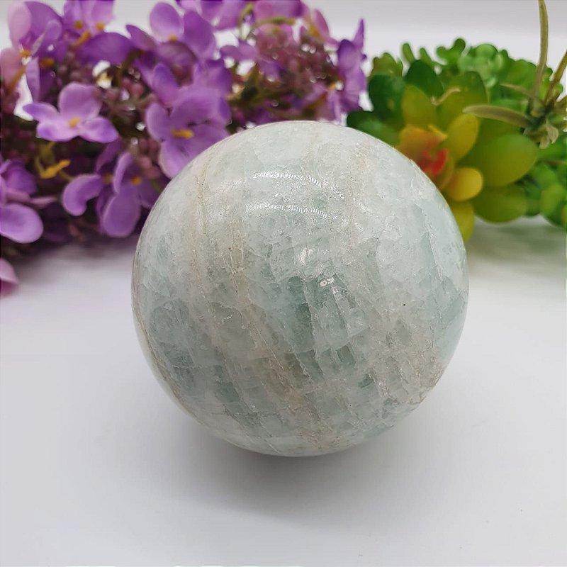 Esfera de Água Marinha | A7cm x L7cm x P7cm | P 370g