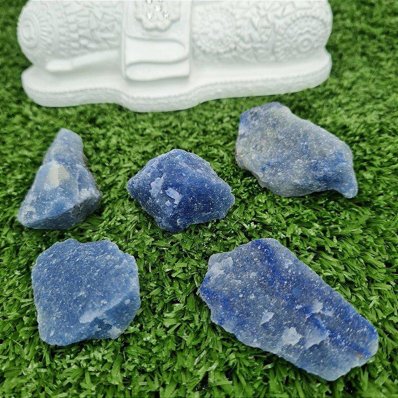 Quartzo Azul Bruto (unidade) 4cm aprox.