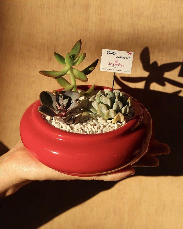 Mini Centro de Mesa vaso de louça