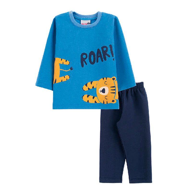 Conjunto Tigre Casaco + Calça Bebê Menino Candy Kids Jeans