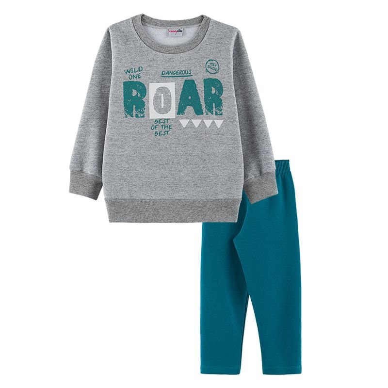 Conjunto Roar Casaco + Calça Infantil Menino  Candy Kids Atlantis