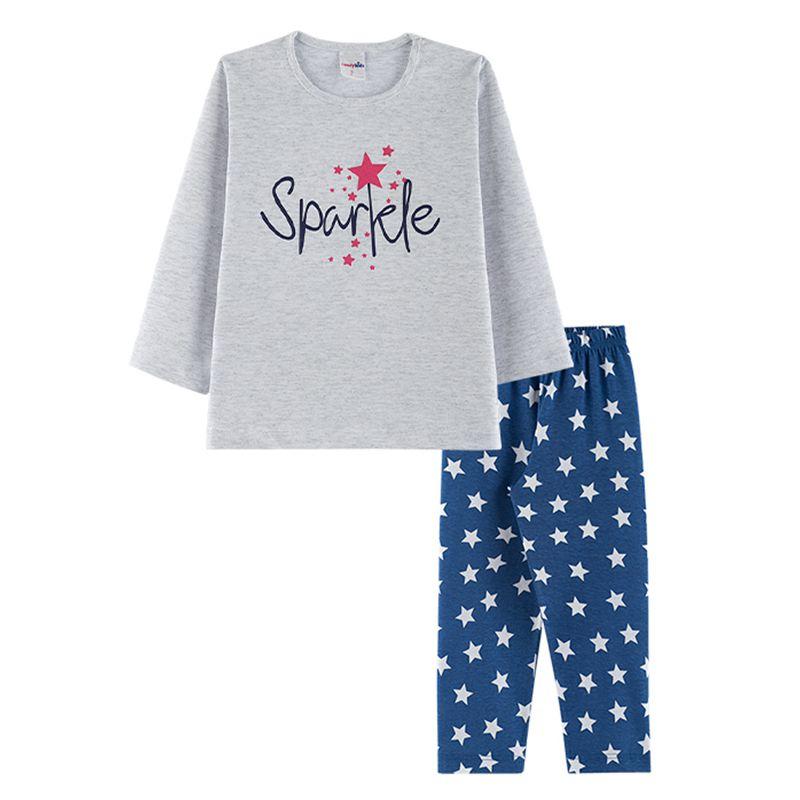 Pijama Sparkle Infantil Menina Candy Kids Mescla